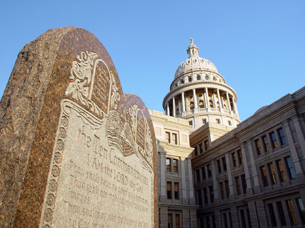 Picture Ten Commandments At The Texas State Capitol